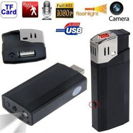 Wholesale Spy Camera Real Lighter - Full HD 1080P Mini DV Lighter Hidden Camera DVR USB U Disk Flashlight Spy Lighter Camera DVR Video Recorder DVR Camcorder with Real Lighter