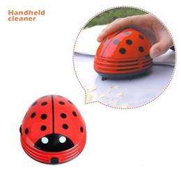 Wholesale Hands Vacuum Cleaner - Portable Mini Ladybug Shape Red Beetles Table Dust Vacuum Cleaner Dust Collector