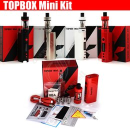 topbox mini glass Promo Codes - Top quality Kanger Topbox Mini 75W TC Starter Kit Kangertech KBOX Mini Box Mod Toptank pro Filling Atomizers Vapor mods subox nano e cig DHL