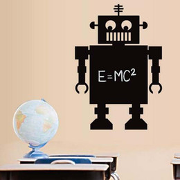 Wholesale Kid Robot Decal - Large size Robot Cartoon Wall Decal Sticker Removable Nursery Vinyl wall art for Boys bedroom decoration