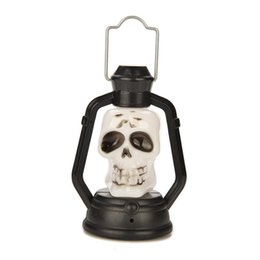 Wholesale Ghost Nights - Colorful Flash Skull Pumpkin Ghost Shape Hanging Small Night Light Holiday Lantern Led Light 0Lamp For Halloween Party wholesale price