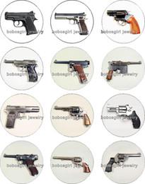 Encantos de jóias com pistola on-line-Frete grátis Pistol vidro Snap botão Charme Popper para Snap Jóias boa qualidade 12 pçs / lote Gl313 Jóias fazendo DIY