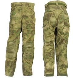 Wholesale Battle Pants - Wholesale-A TACS FG Camo Pants With EVA Pads Ripstop Assault Force Battle Knee Pad Tactical Pants