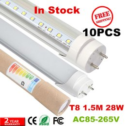Wholesale High Lumen Led Lamp - 10pcs free shipping CE 1500mm 25w high lumen led tube 5ft led fluorescent lamp
