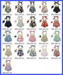 lace straps accessories Coupons - Baby Lace Romper Straps dress 0-3TPolka Dot Halter Romper +Hair Accessories Bubble Romper ruffle Girls