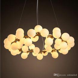 Wholesale Modo Light - LED modern lamp glass pendant lights 25 45 heads loft light fixture modo led glass chandelier