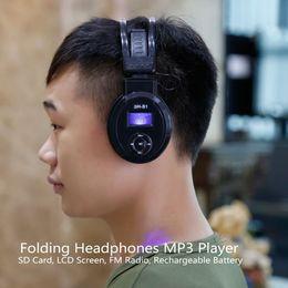 mp3 bluetooth Rabatt Heiße Kopfhörer SH-S1 On-Ear-LCD-Faltbarer Kopfhörer Drahtlose Kopfhörer 3H-866 Bluetooth-Kopfhörer mit FM-Radio-TF-Karte Sport Mp3 Music Player