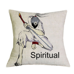 Wholesale Polyester Filled Pillows - Spiritual Pillow 45*45cm Linen Cushion Decorative Home Decor (Filling not included) 1pcs lot