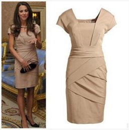 Wholesale Dress British Princess Kate - 2017 Spring European and foreign trade new OL commuter British Princess Kate kate with the paragraph dress
