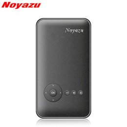 Wholesale data show - Wholesale- Noyazu M6Plus 200ANSI Mini Portable Projector Android 4.4 WiFi Bluetooth DLP Full HD 854*480 Data Show for Phone Home Theater