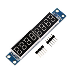 Wholesale Max7219 Dot Matrix Module Display - MAX7219 LED Dot matrix 8-Digit Digital Display Control Module for Arduino