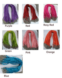 Wholesale Velvet Diy - 100pcs 3mm Korean velvet rope Jewelry Rope Necklace Lobster clasp Cord For DIY Craft Pendant Necklace Jewelry 18'' Multi-color Optional