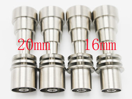 Wholesale Both Male Female - Both 10mm 14mm 18mm male and female joint Grade 2 Domeless Titanium Nail for 16mm 20mm D nail heating Coil