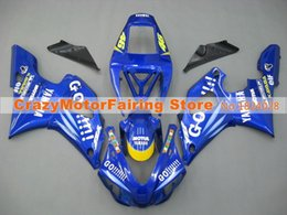 Wholesale 98 R1 Blue Fairings - 3Gifts New Hot sales bike Fairings Kits For YAMAHA YZF-R1 1998 1999 r1 98 99 YZF1000 Cool blue white GO!!