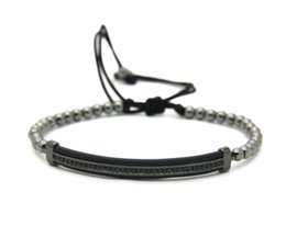 Wholesale Chain Protectors - New Design Watch Protector CZ Macrame Bracelets With High Quality Black & White Zircon Long Tube Jewelry