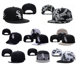 Wholesale Top Quality Snapback Hat - Chicago White Sox Team Baseball Caps Top Quality Sports Caps Adjustable Snapback Caps Fashion Hip Hop Hats Cool Caps