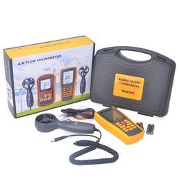 Wholesale Digital Tachometer Tester - GM8902 Digital LCD Anemometer Tachometer With USB Wind Speed Measurement Air Flow Tester Air Temperature Meter