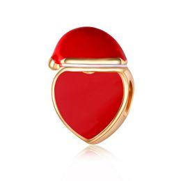 En gros Perles En Or Charme Européen Charmes Perles Pandora Serpent Chaîne Bracelet De Mode Mignon Rouge Coeur Perles Bijoux DIY ? partir de fabricateur