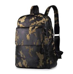 velvet korean fashion UK - wholesale brand men bags fashion wild camouflage backpack high-capacity velvet Korean backpack outdoor leisure camouflage velvet Backpack