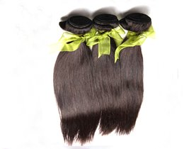 Wholesale Cheapest Straight Weave - Cheapest Unprocessed Indian virgin hair weaves 2 3pcs lot 100% virgin Indian straight hair weaving By DHL free shipping