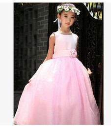 Wholesale Girls Dresses For Events - Formal Events Girl Dress Wedding Party Children's Dresses For Girl Lace Sequins Princess Tutu Dress Birthday Clothes For 2-7 ages
