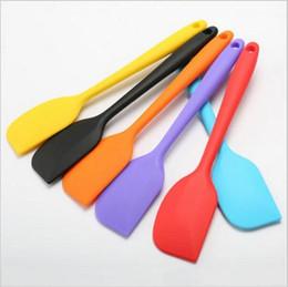 Wholesale Silicone Butter Scraper - Food grade Non Stick butter cooking silicone spatula set cookie pastry scraper cake baking spatula silicone spatula c083