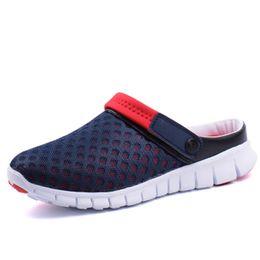 Wholesale Open Shoes Trend - Wholesale-Summer Trend Of Men's Slipper Men's Hole Hollow Ventilating Sandals Clogs Shoes Beach Shoes 6 ColorsNew 2015