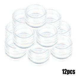 Wholesale White Plastic Containers - Wholesale-Best Sale Watches Parts Package Tool 12 Round Transparent Plastic Wristwatches Container with Screw-on Lid Small Relogiio Carton