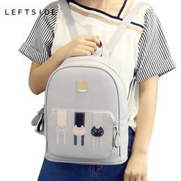 Wholesale Travelling Bags For Ladies - 2017 school back packs Cartoon Cute Cat Ladies Backpacks Fashion Women Backpack cute Girls Bags for school Travel bags