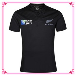 Wholesale Ruby Flash - New Zealand Ruby Jersey New All Blacks RWC Rugby shirt New Zealand Rugby World Cup 16 17 thailand quality Rugby Jerseys size S-3XL