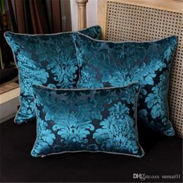 sofá cubierta de tela de terciopelo Rebajas Preferencia de lujo Europea Cojín tejido jacquard de terciopelo Cojín almohada del sofá / del coche / suministros almohada Textiles para el Hogar