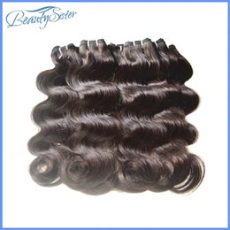 Wholesale Dhgate Brazilian Natural Wave Hair - DHgate Hair Products Unprocessed Brazilian Virgin Hair Extensions Body Wave 7A Grade Mixed 30 Bundles lot 50g pcs Virgin Human Hair Weaves