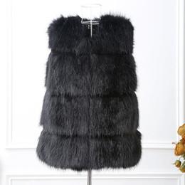 Wholesale mink hair fur coat women - vest mink coat winter autumn long hair smooth waistcoat mink fur coat 2016 new arrival
