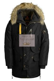 Wholesale Men Jacket Dhl - EMS DHL shipping 2017 fall winter man kodiac down jacket with big fur top quality man kodiac parka coat