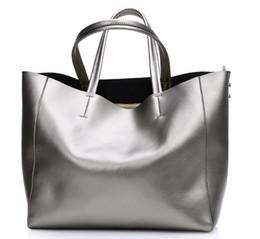 Wholesale Large Designer Handbags Wholesale - Designers High Quality Fashion Genuine Leather Large Shoulder Bag Luxury Women Handbag Brand Designer Large Shopping Bag Casual Tote Cowhide