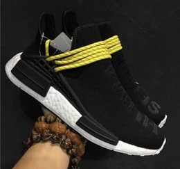 Wholesale Blue Human Weave - 2017 NMD PW Pharrell X Williams Human Race Woven Boost for Super Basf Company quality Fashion Weaving Casual Runner Running Shoes Size 36-48