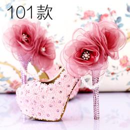 Lila schuhspitzen online-2016 romantische Lila Super High Heel Brautschuhe Schöne Spitze Handgemachte Brautkleid Schuhe mit Appliques Brautjungfernschuhe