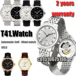 Wholesale Wind Butterfly - Hot New Mens Watch Top Brand Luxury Stainless steel Strap leather Watch T41 Automatic Self-wind Mechanical watch Fashion Business WristWatch