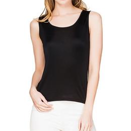 Wholesale Womens Silk Tops - Fashion 100% Silk Knit Womens Sleeveless Tank Top US S M L