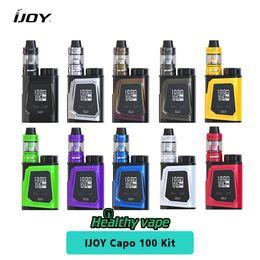 Wholesale Sub Gold - Original IJoy Capo 100 Kit Capo 100w Vape Box Mod with iJoy Captain Mini Sub ohm Tank and 21700 Battery 3750mah