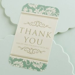 "Wholesale Wedding Thank Stickers - Wholesale- 100pcs Vintage ""Thank You"" Gift Seal Label Sticker For Party Favor Gift Bag Candy Box Decorate Party Favor Gift Bag Candy Box"