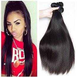 Wholesale Afro Kinky Straight Hair - Brazilian Straight Unprocessed Human Hair Bundles 3pcs Lot Body Wave Afro Kinky Curly Malaysian Peruvian Indian Human Hair Bundle Deals
