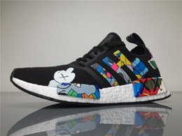 Wholesale Golf R1 - Originals KAWS X NMD S31526 R1 Real Boost Running Shoes Womens Mens Kaws NMDS Sneakers Men Athletic Shoes Size 40-45 Boosts