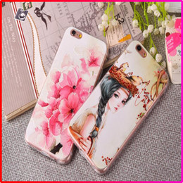 Wholesale Mobile Cover Back Paintings - 3D Painted Relief Soft TPU Mobile Phone Case for Apple iphone 5 6 6S 6 6S Plus Back Cover Case