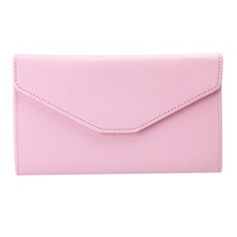 Wholesale Ladies Cluth Wallet - Wholesale- 6 Colors Multifunction Popular Envelope Women Wallet PU Leather Coin Pocket Purse Phone Card Holder Lady Long Burse Cluth Bags