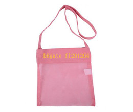 Wholesale Seashell Bags - 100pcs lot Free Shipping 24x21cm Small Size Kids Child Children Summer Beach seashell Shell Tote Bag Children Mesh Shell bag