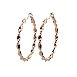 Wholesale Gold Recycled - The new Ms. C-shaped earrings from 100% recycled material   plating white k   gun black   kc gold 1pair   lot lot drop shipping