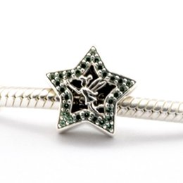 Wholesale Pandora Silver Bells - 2016 Tinker Bell Star 100% 925 Sterling Silver Bead Fit Pandora Fashion Jewelry DIY Charm Brand