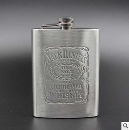 Wholesale Honest Steel - Portable 8oz Stainless Steel hip flask with Box as Gift Whiskey Honest Flask Bottle Mug Wisky Jerry Can