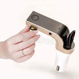 Wholesale Cheap Cars Mp3 - G7 Smartphone Bluetooth MP3 Radio Player Handfree FM Transmitter Modulator Car Charger Wireless Kit Support Micro SD TF Card cheap DHL 100